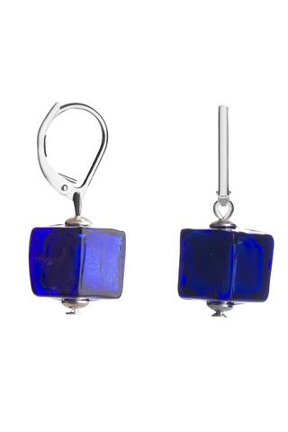 Серьги Perla Cubo цвет синий