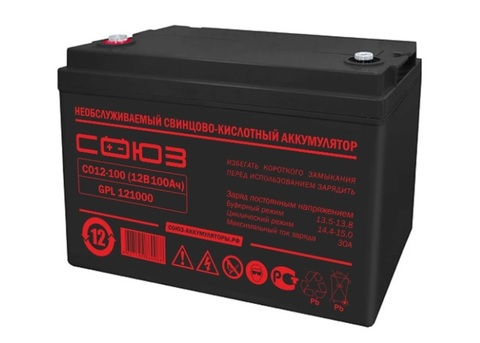 Аккумулятор глубокого разряда 12В   100 А/ч  СОЮЗ-121000