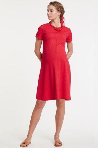 Платье для беременных и кормящих 11444 красный