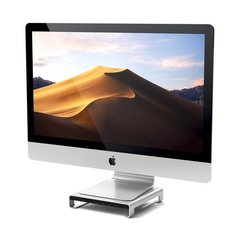 Подставка-док станция Satechi USB-C Aluminum iMac Stand with Built-in USB-C серебристый