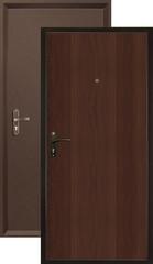 Дверь входная Valberg Б-1 Спец, 1 замок, 0,8 мм  металл, (медь антик+итальянский орех)