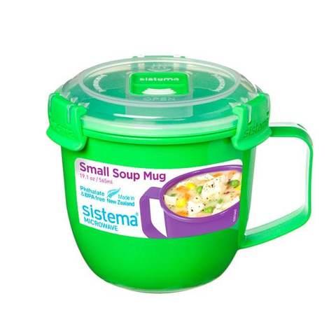 Кружка суповая Microwave 565 мл, артикул 21142, производитель - Sistema