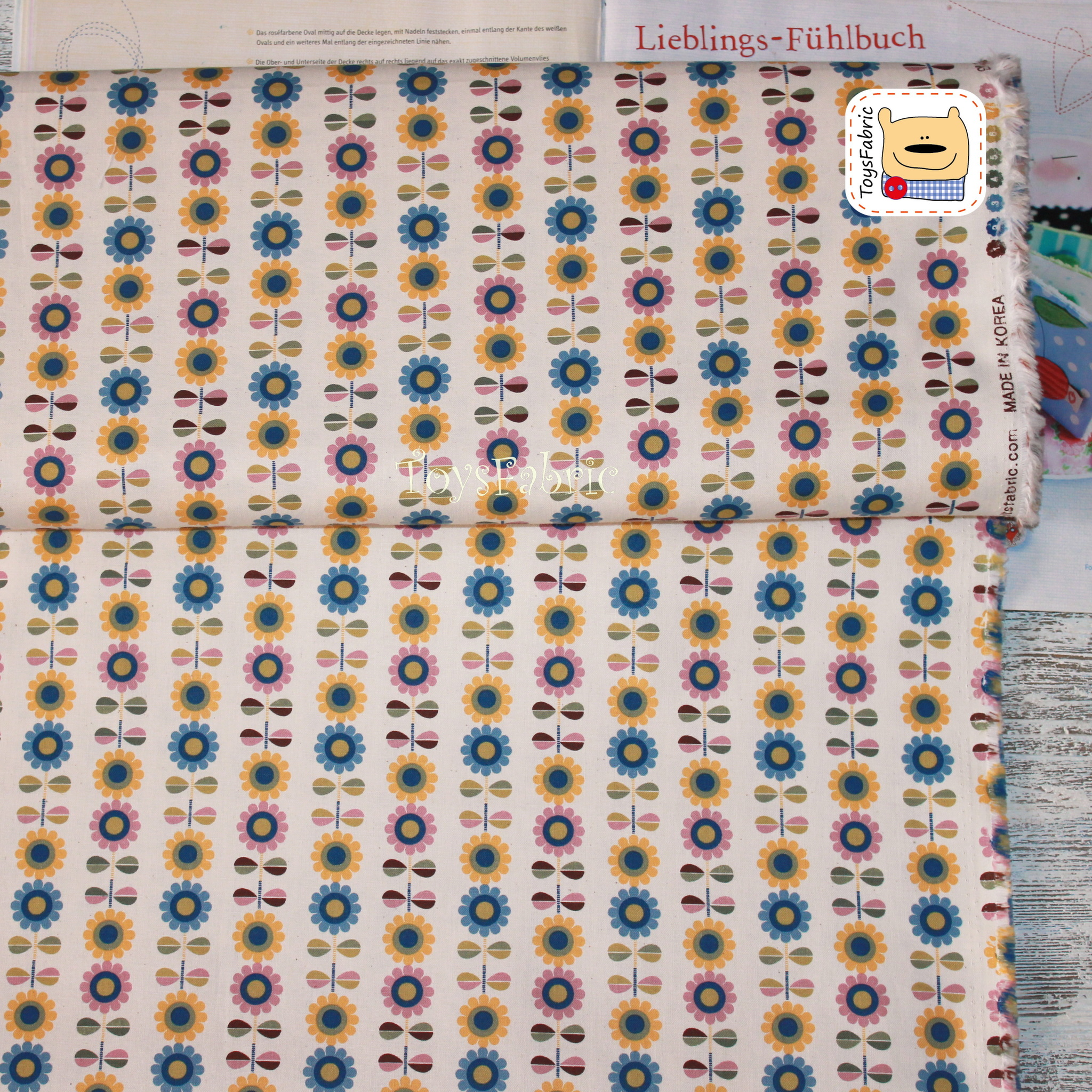 Ткань для пэчворка 20692 Подсолнухи (45х55см)