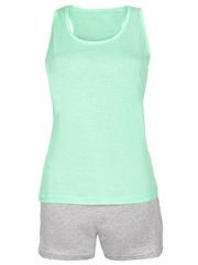 PT021501-4 пижама женская, зеленый, серый