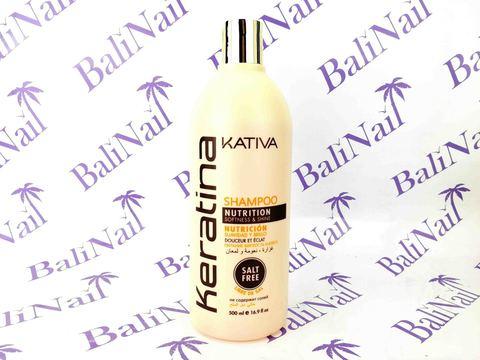 Kativa KERATINA Шампунь для всех типов волос кератиновый укрепляющий, 500 мл