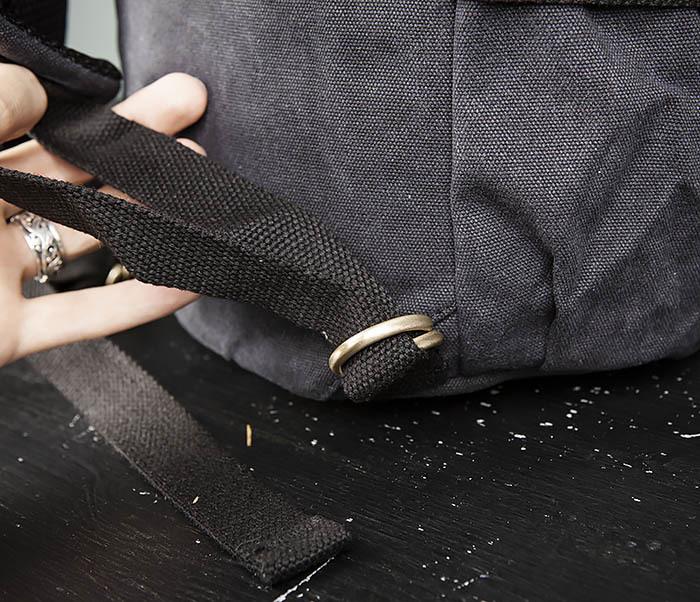 BAG368-1 Городская тканевая сумка рюкзак с ремнем на плечо фото 08