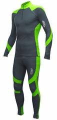 Раздельный лыжный гоночный комбинезон Ray Next Grey-Green