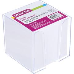 Блок-кубик ATTACHE в стакане 9х9х9 белый блок