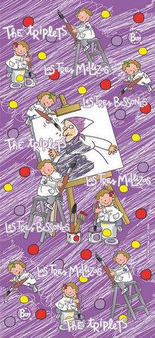 Многофункциональная бандана-труба детская Buff Les 3 Bessones Three Painters