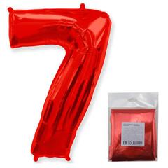 F Цифра, 7 Красный, 40''/102 см, 1 шт. в упаковке