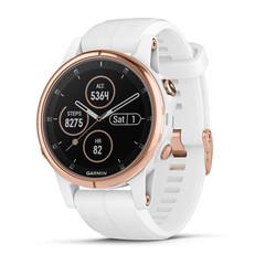 Женские мультиспортивные часы Garmin Fenix 5S Plus Sapphire - розовое золото с белым ремешком 010-01987-07
