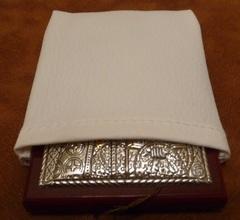 Серебряная с золочением икона Иисуса Христа Спасителя 8,5х7см