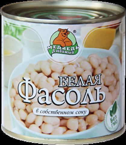 """Фасоль """"Медведь любимый"""" белая 425 мл"""