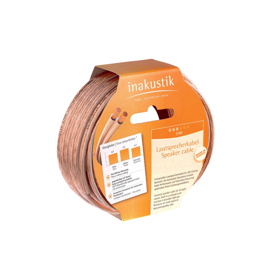 Inakustik Star LS cable, 2 x 1.5 mm2, 1 m
