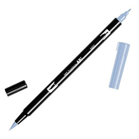 Маркер с двумя наконечниками Tombow Dual Brush Marker- Цвет N60 Cool Gray 6