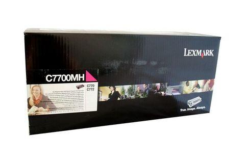 Картридж для принтеров Lexmark C770/C772 пурпурный (magenta). Ресурс 10000 стр (C7700MH)