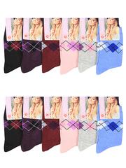 E020 носки женские цветные 36-42 (12шт)