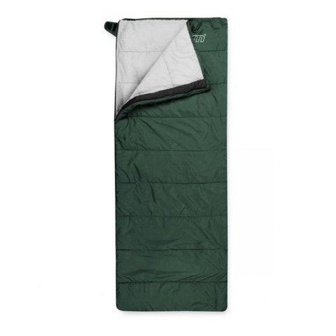 Спальный мешок Trimm Comfort TRAVEL, 195 R (зеленый, камуфляж, синий)