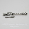 "Подвеска ""Топор"" (цвет - античное  серебро) 27х10 мм"