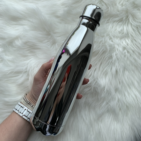 Бутылка для воды 500 мл /глянцевое серебро/