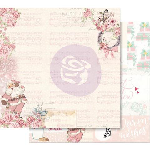 Лист двусторонней бумаги 30х30см из коллекции Santa Baby от Prima Marketing-Santa, Baby!