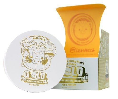 Elizavecca Патчи для век Золото/Гиалуроновая кислота Milky Piggy Hell-Pore Gold Hyaluronic Acid eye patch, 60 шт
