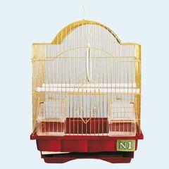 N1 Клетка для птиц золотая 30*23*39 см