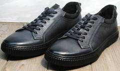 Мужские кроссовки кеды Komcero 9K9154-734 Black-Grey