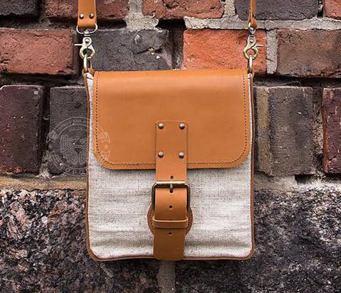BAG398-2 Оригинальная мужская сумка с ремнем на плечо, ручная работа