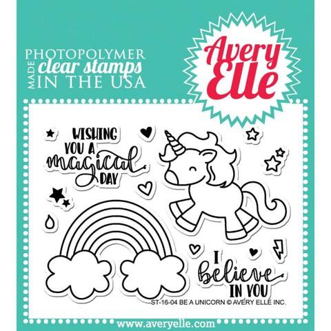 Комплект силиконовых штампов Avery Elle Be A Unicorn
