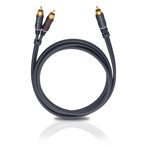 Oehlbach BOOOM! Y-adapter cable, anthracite 10.0m, кабель сабвуферный