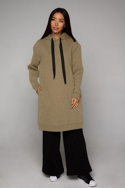 Платье-худи бежевое YOS