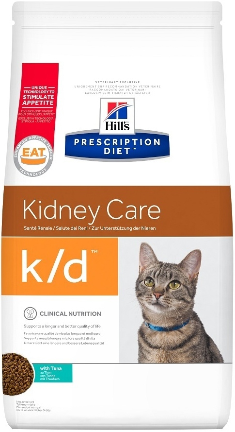 Сухой корм Ветеринарный корм для кошек Hill`s Prescription Diet k/d Kidney Care, при заболеваниях почек, с тунцом 4707ce17c2.jpg