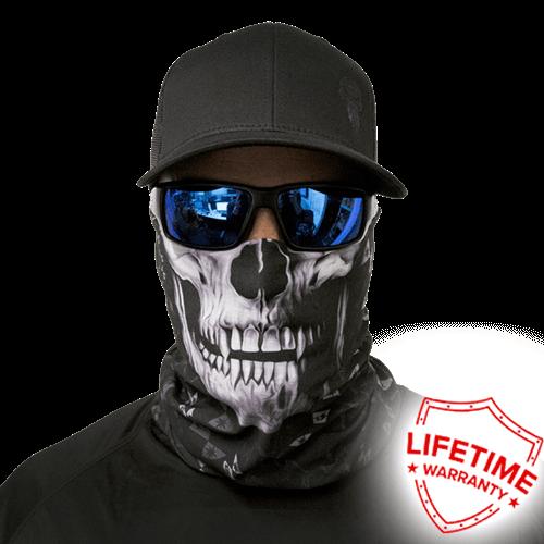 Бандана-труба с черепом SA Steel Tech Black Skull