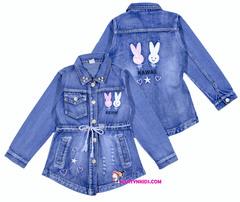 837 куртка джинсовая зайки