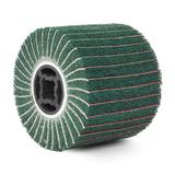 Барабан тип G ламельный комбинированный (зеленый)  неткан.полотно/шлиф.бумага #180, 120х100мм, посадка 19 мм