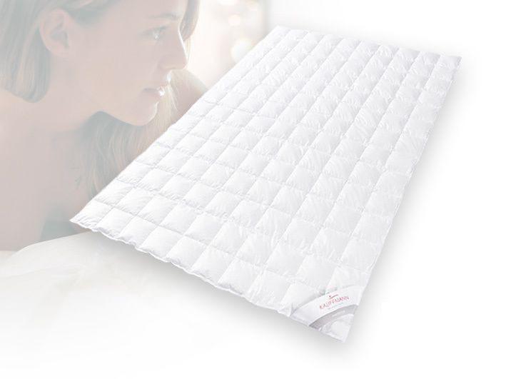 Одеяло пуховое всесезонное 180х200 Kauffmann Премиум Тенсел Сильвер Протекшн