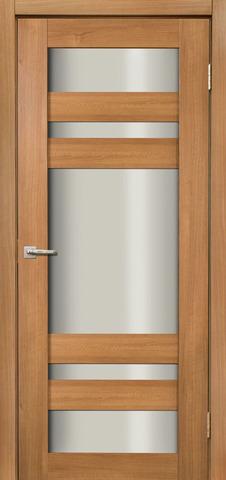 Дверь Дера Мастер 639, стекло белое, цвет карамель, остекленная