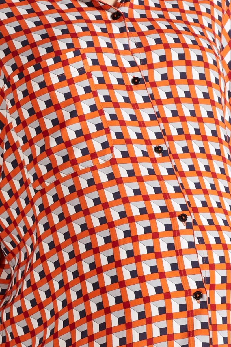 Блузка 09753 геометрия/принт