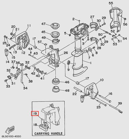 Пружина торсионная  для лодочного мотора T3 SEA-PRO (15-19)
