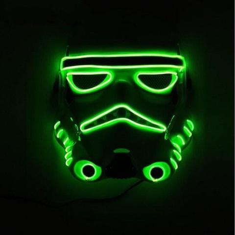 Звездные войны маска Штурмовик с неоновой подсветкой