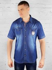 K-YB001 рубашка мужская, синяя