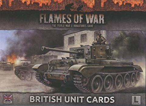 LATE WAR British Unit Cards
