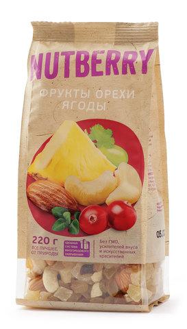 NUTBERRY Смесь орехи фрукты ягоды 220 г