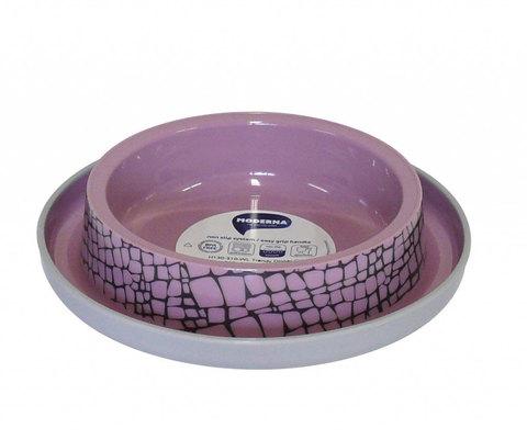 Moderna Wildlife миска пластиковая нескользящая 210 мл, нежно-розовая