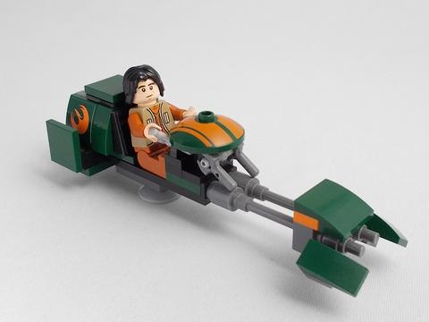 LEGO Star Wars: Скоростной спидер Эзры 75090 — Rebels: Ezra's Speeder Bike — Лего Звёздные войны Стар ворз Повстанцы