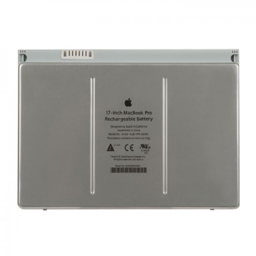 Аккумулятор MacBook Pro 17 A1151 A1212 A1229 A1261 63Wh 10.8V A1189 Mid 2006 - Late 2008 - 661-4618 661-4231 661-3974 020-5091-A