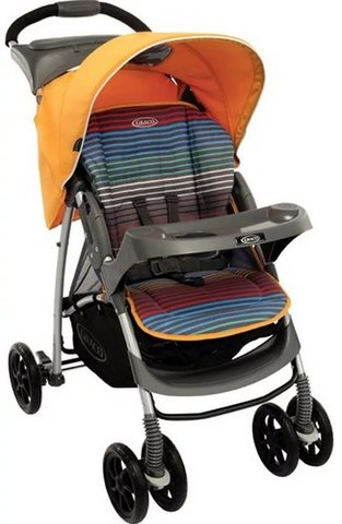 Коляска прогулочная Graco Mirage + W Parent tray and boot (Jaffa stripe)