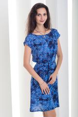 Рута. Легкое женское платье больших размеров. Темный цветок