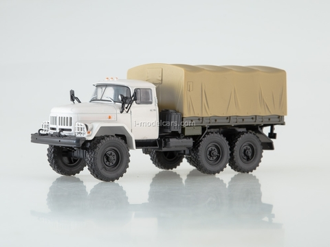 ZIL-131 flatbed truck with awning white-beige Our Trucks #8 (limited edition)